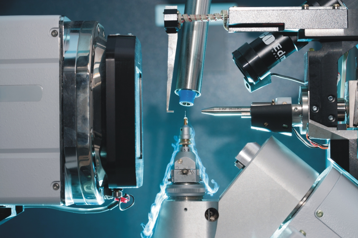 Inside Apex Diffractometer